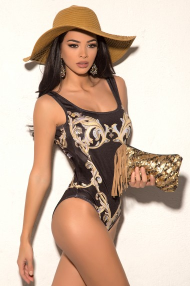 ONE-PIECE SWIMSUIT- GOLDEN ORNAMENTS
