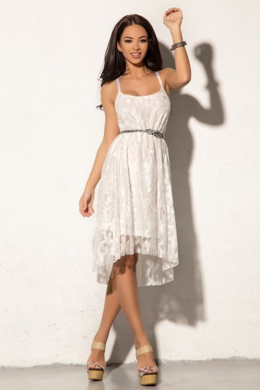 ASYMMETRIC LACE BEACH DRESS