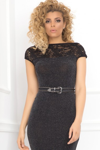 EVENING BLACK STRETCH JERSEY DRESS