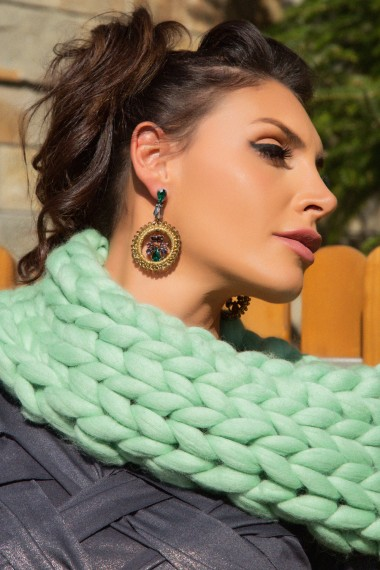 INFINITY MINT GREEN WOOL SCARF