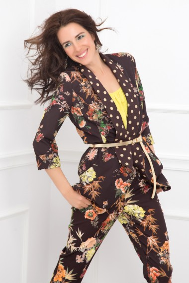 CLOSE FIT FLORAL-PRINT JACKET