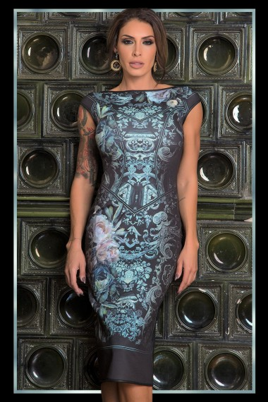 DESIGNER DRESS - PAISLEY GREEN