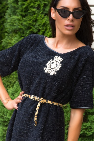 BOUCLE SWEATER IN BLACK