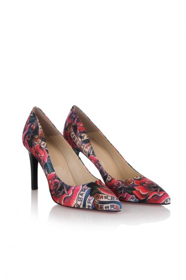 PRINTED SATIN DESIGNER SHOES