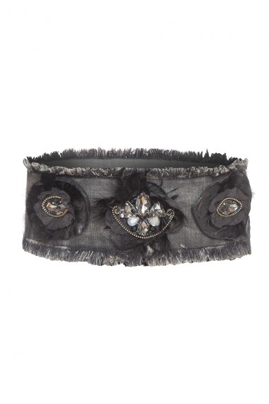 DECORATED DENIM BELT
