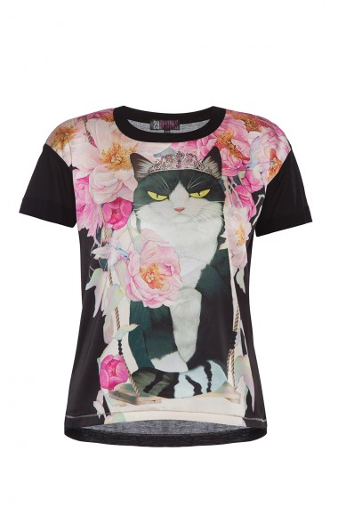 COTTON-JERSEY T-SHIRT WITH DESIGNER PRINT