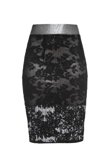 EVENING VISCOSE-BLEND PENCIL SKIRT