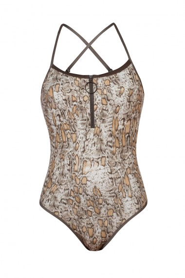SNAKE SKIN PRINT ONEPIECE SWIMSUIT