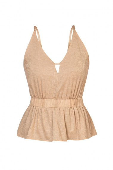 NUDE COTTON JERSEY TOP