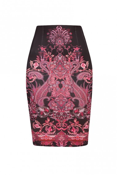 PENCIL SKIRT - PAISLEY DARK