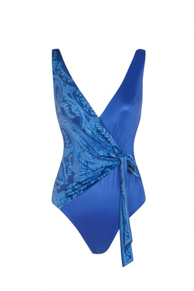 ONE PIECE SWIMSUIT - PAISLEY BLUE