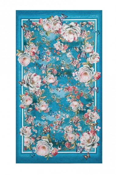 BEACH TOWEL WITH DESIGNER PRINT - BUTTERFLIES