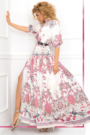 MAXI DRESS - PAISLEY RED